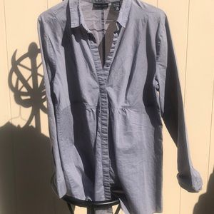 New York and company size large gray blouse